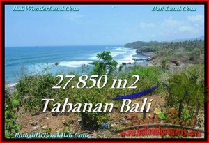 FOR SALE Magnificent PROPERTY 27,850 m2 LAND IN TABANAN BALI TJTB229