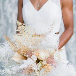 Brautstrauß Boho Trockenblumen Strauß