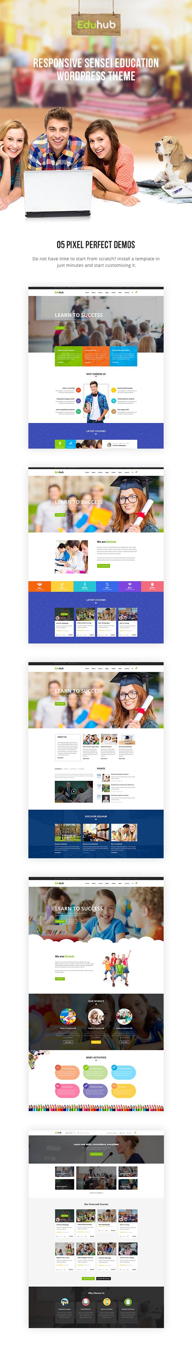 Eduhub - Responsive Sensei Education WordPress Theme - 3