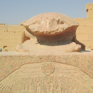 Photo from the tour in Luxor (the Valley of the Queens) from Hurghada: The Great scarab in the Karnak temple depicting God Khepri