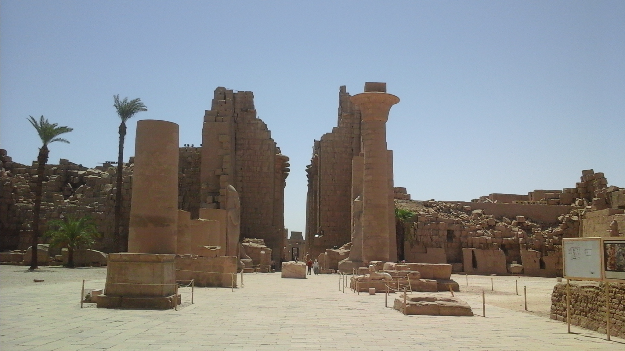 The Great court in the temple of Karnak