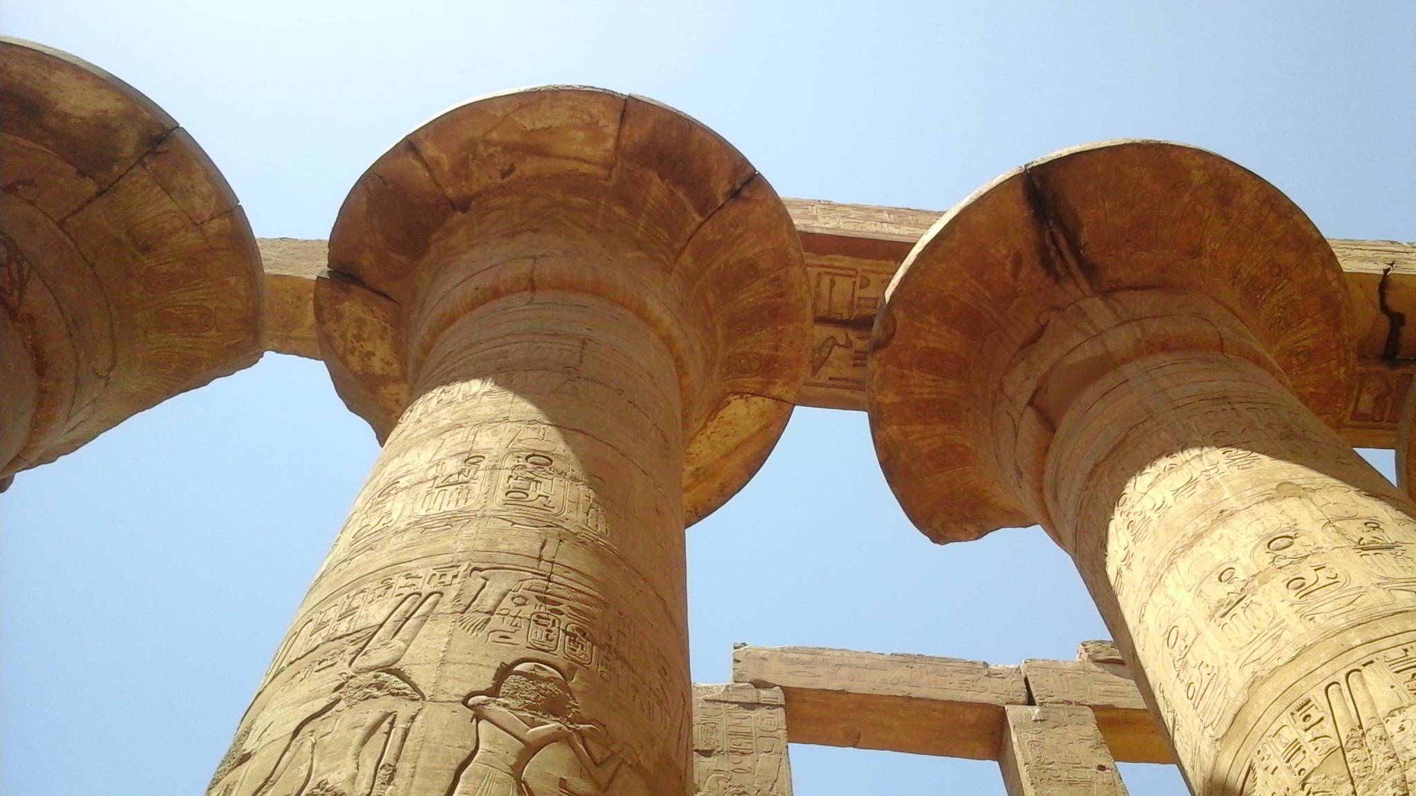 The Great Hypostyle hall in the temple of Karnak