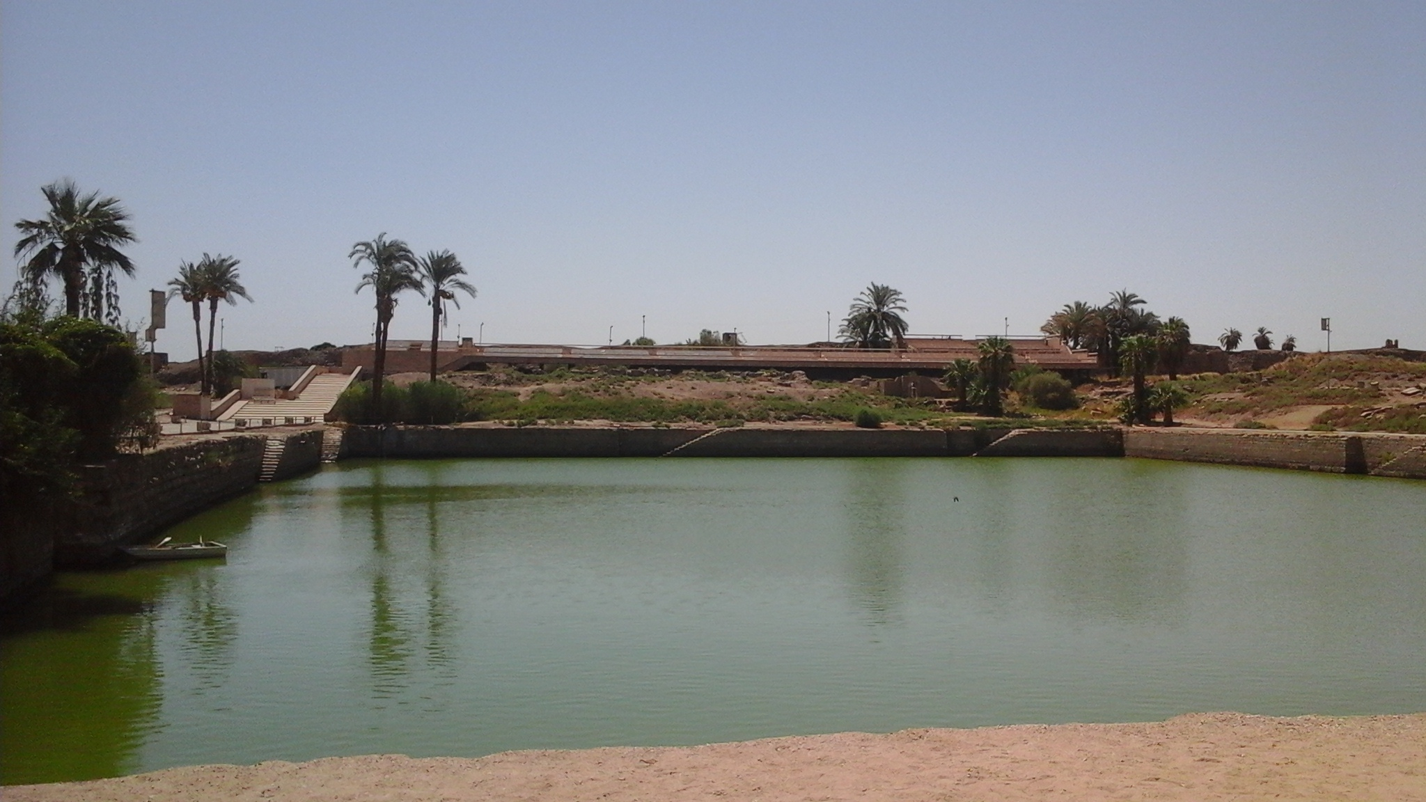 The Sacred Lake in the temples of Karnak