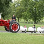 Tractor rides for kids at Landis Farm