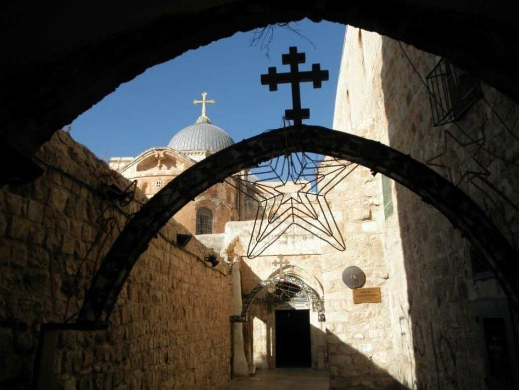 The 9th Station of the Cross in the Via Dolorosa