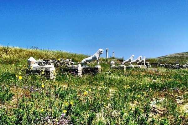 Terrace of Lions, Delos Greece