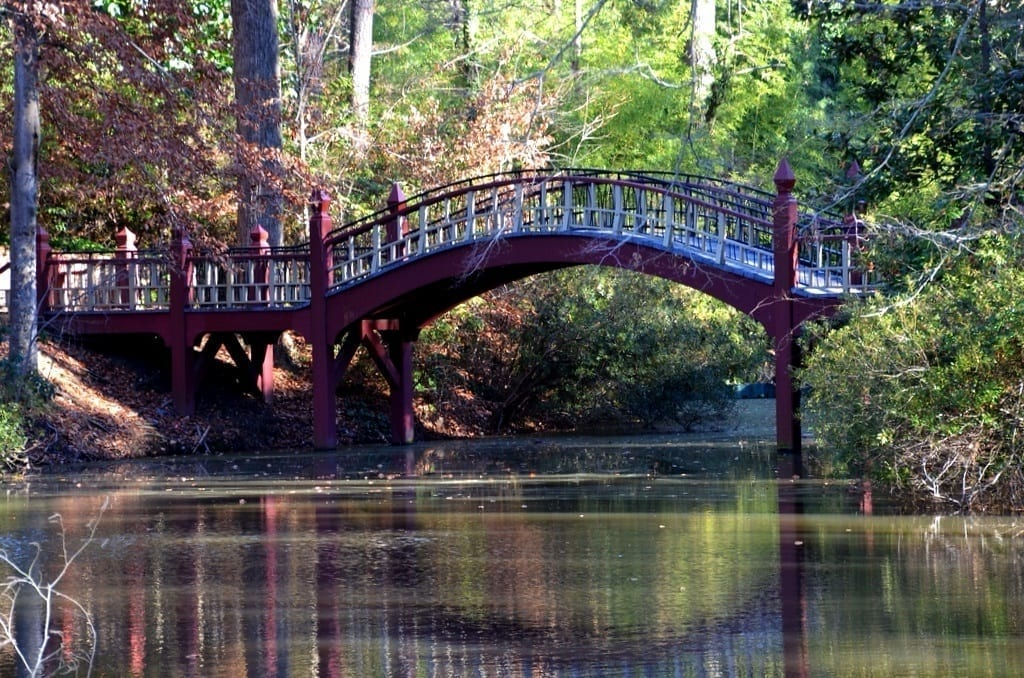 Crim Dell Bridge William and Mary Williamsburg Virginia