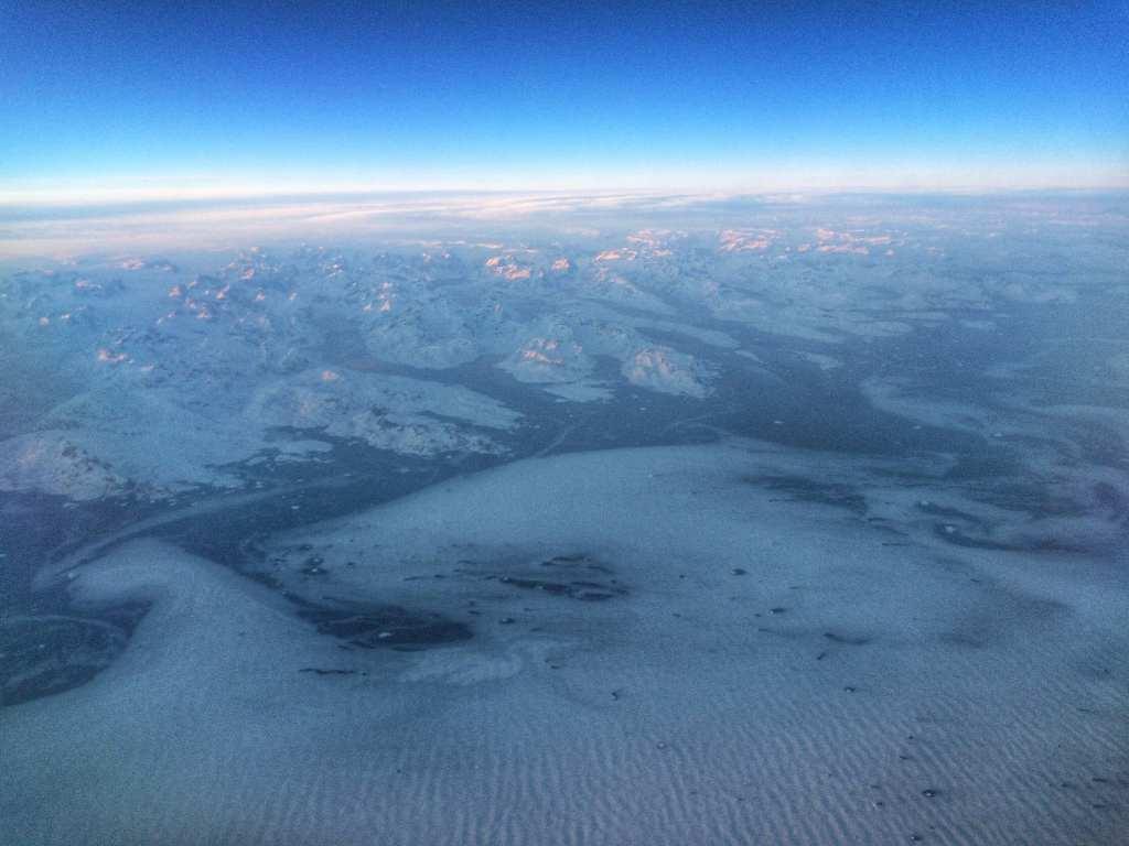 Icelandair airplane window