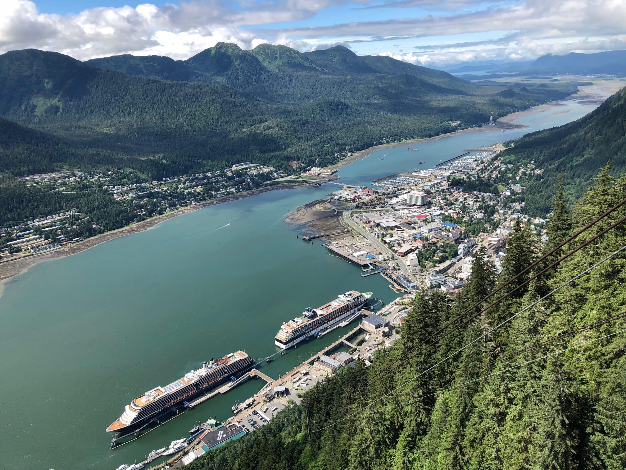 Panoramic View Of Juneau, Alaska
