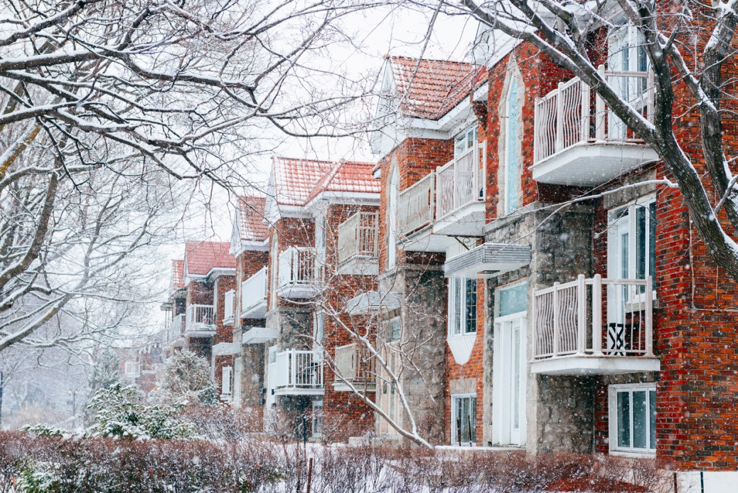 Property undergoing winter maintenance due to the colder weather