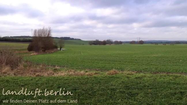 Blick von der hinteren Grundstücksgrenze nach Westen