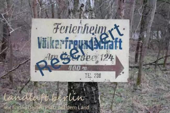 Schön gelegenes, großzügiges (1.224 m²) Ferienhausgrundstück am Üdersee bei Finowfurt