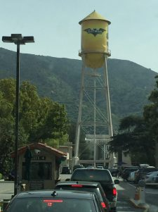 Water tower used for promoting their latest movies