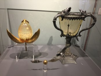 Original props including the Tri-Wizard Cup and the Golden Snitch
