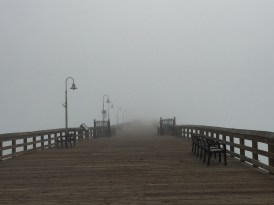 Too foggy to see the end of the pier