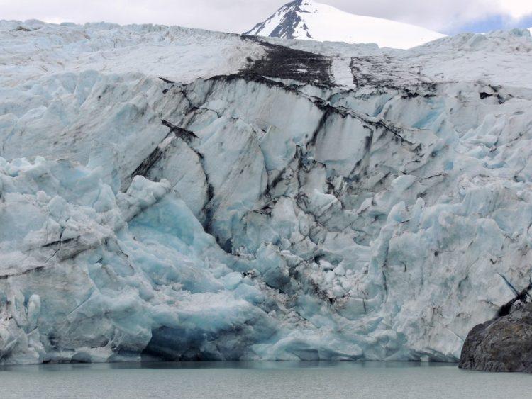 Portage Glacier face