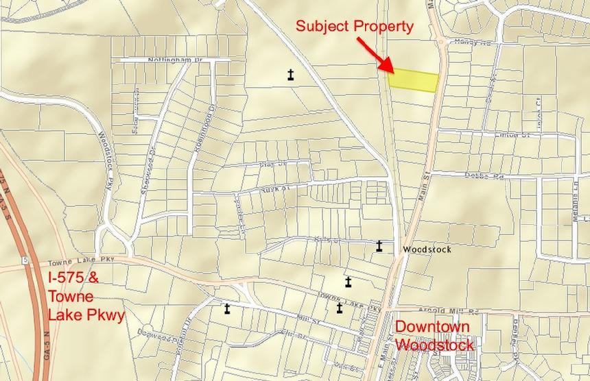 Woodstock Ga Map Historic