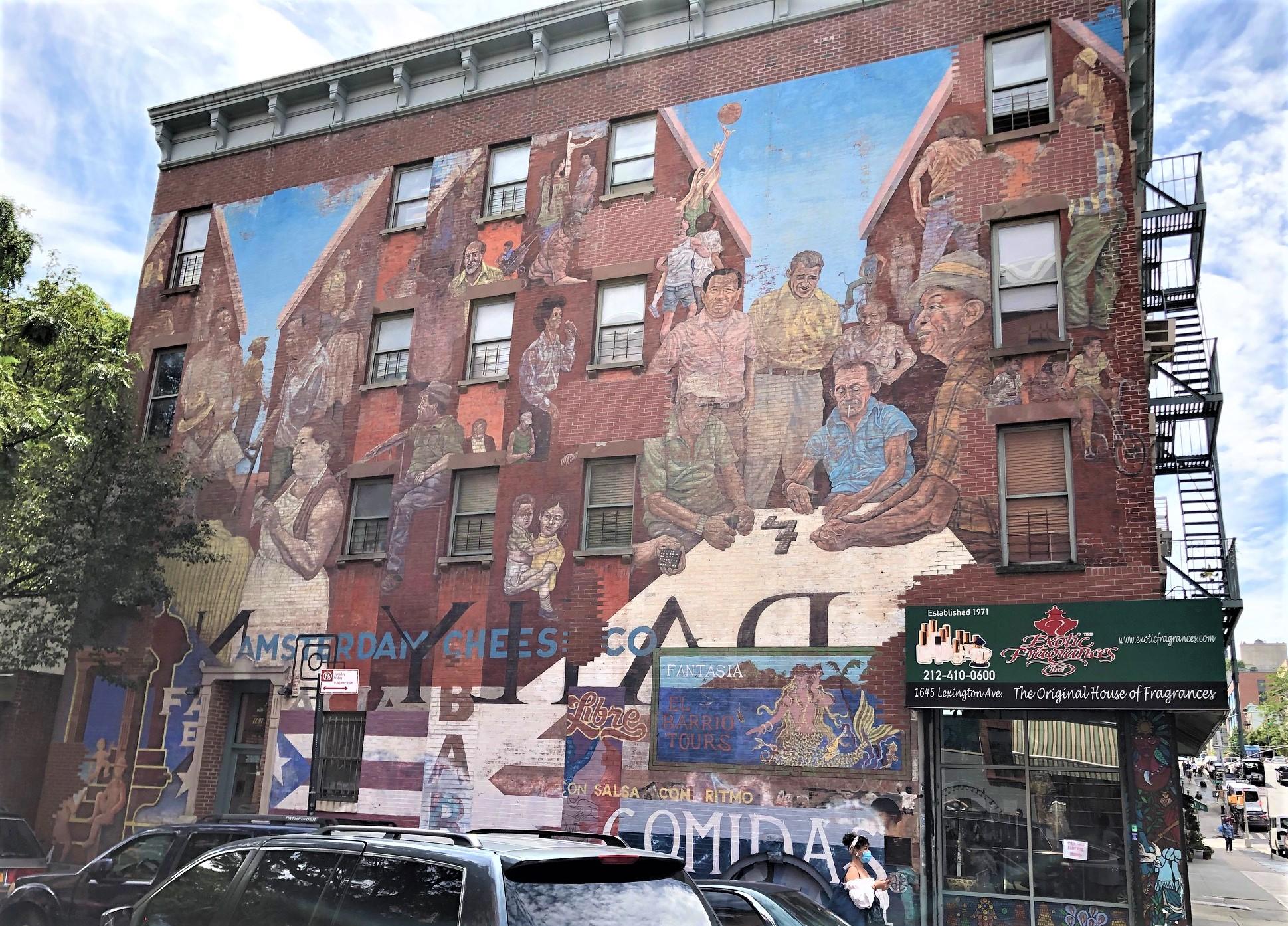 Spirit of East Harlem Mural, LEH Virtual Tour, MAS Jane's Walk 2021