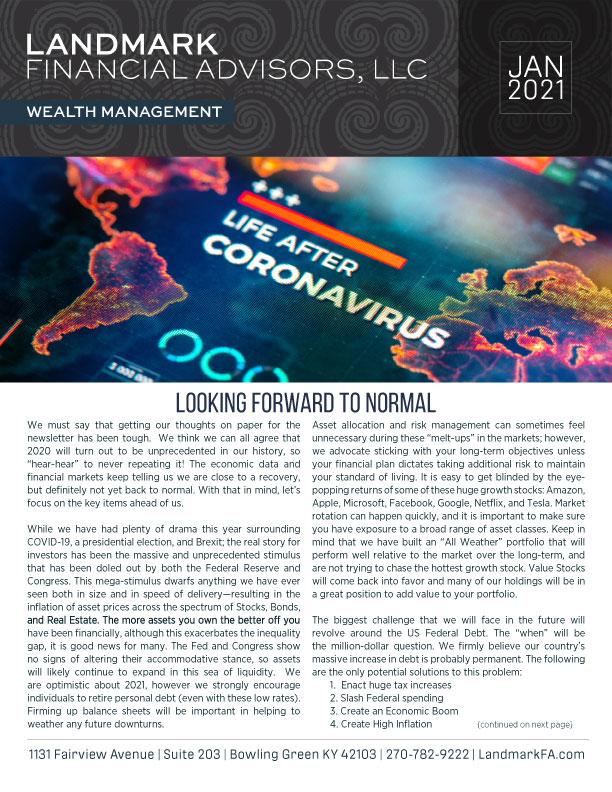 Landmark newsletter JAN 2021