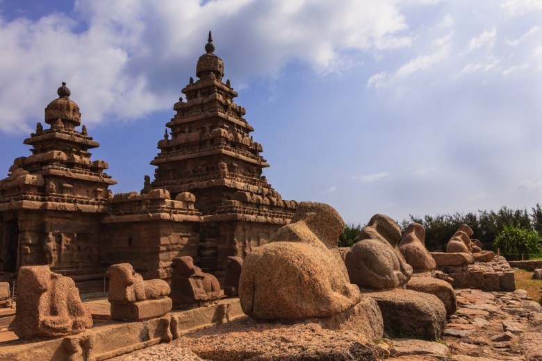 The Shore Temple in Mahabalipuram or Mamallapuram