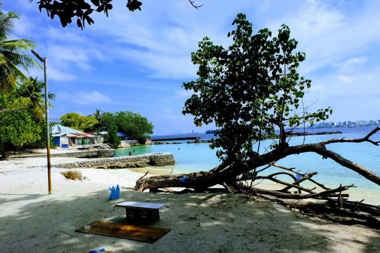 View of Malé from Villingili beach, Maldives