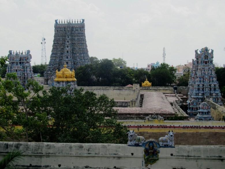 Meenakshi Temple viewed from Madurai Gallery