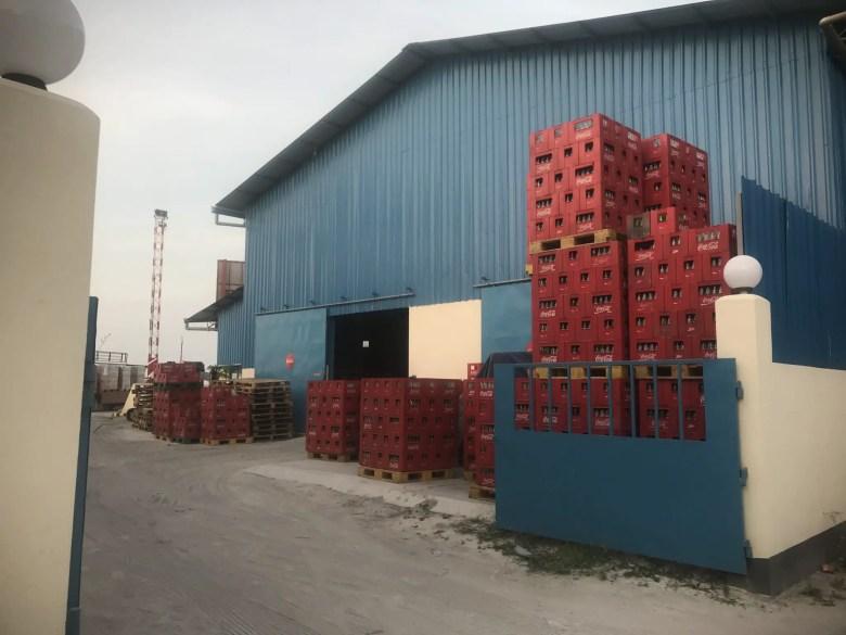 The coke factory on Thulusdhoo Island, Maldives