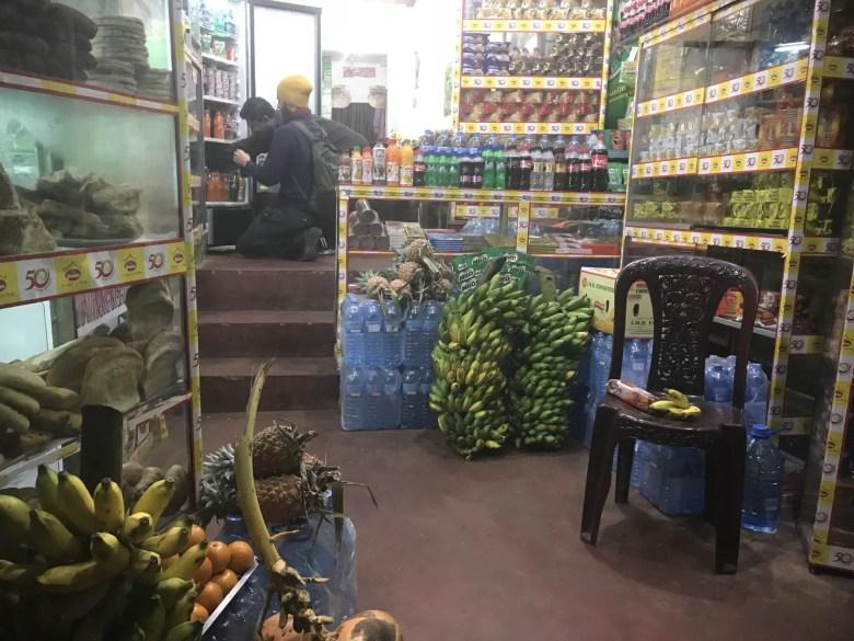 Mini market in Nallathanniya, Sri Lanka