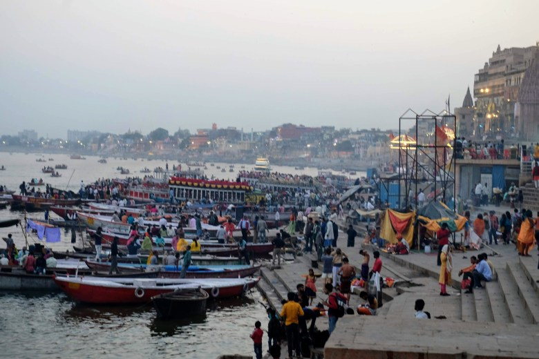 The ghats of Varanasi, India