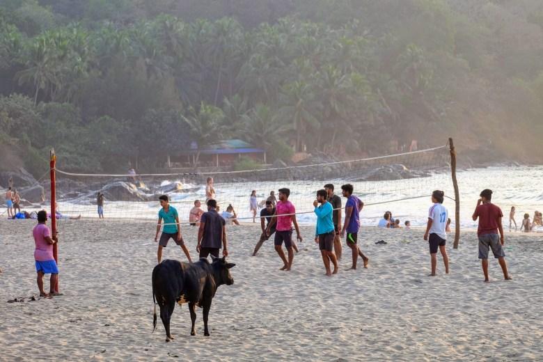 Volleyball on Kudle Beach, Gokarna