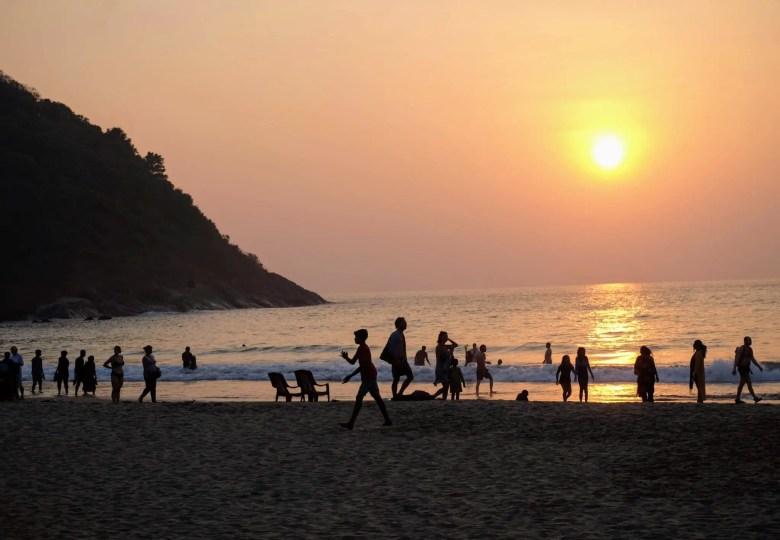 Sunset on Kudle Beach, Gokarna, South India