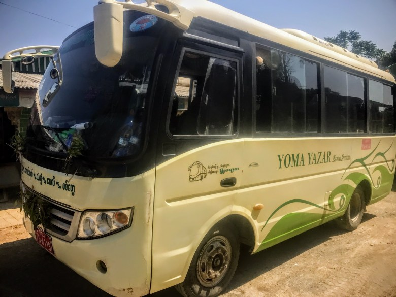 Yoma Yazar minibus, Pyay, Myanmar