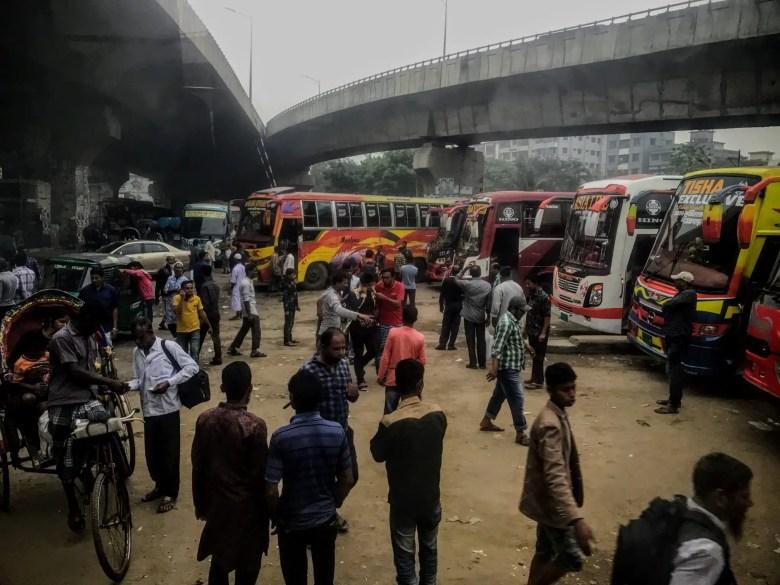 Sayedabad bus station, Dhaka, Bangladesh