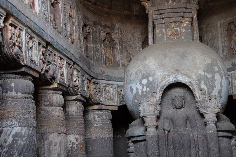 Cave 19, the Ajanta Caves, Maharastra, South India