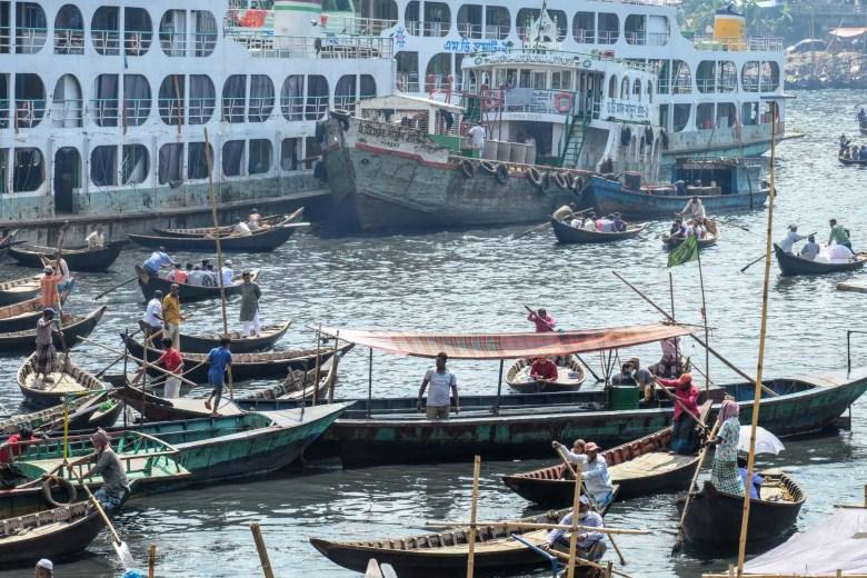 Dhaka old town river port, Bangladesh