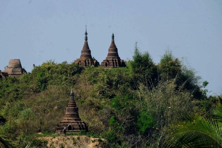 Temples at Mrauk U, Myanmar