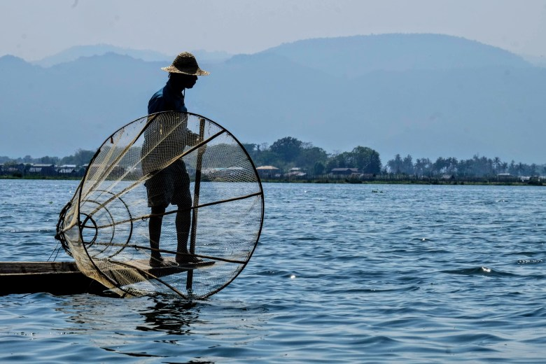 Fisherman at Inle Lake in Myanmar