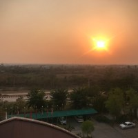 Sunset at New Aye Yar Hotel, Naypyitaw, Myanmar