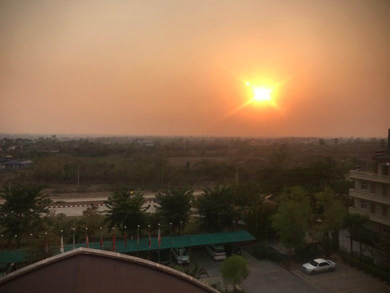 Sunset at New Aye Yar Hotel, Naypyitaw, Myanmar