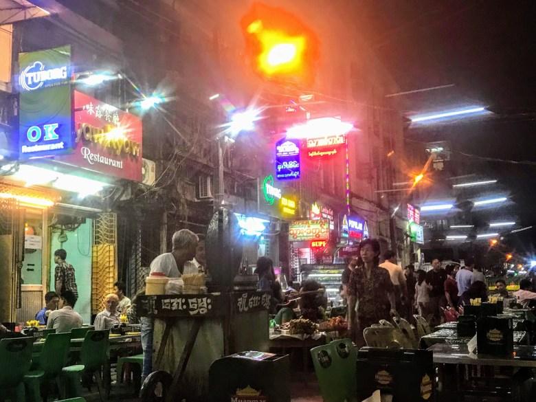 Walking Street, Chinatown, Yangon, Myanmar