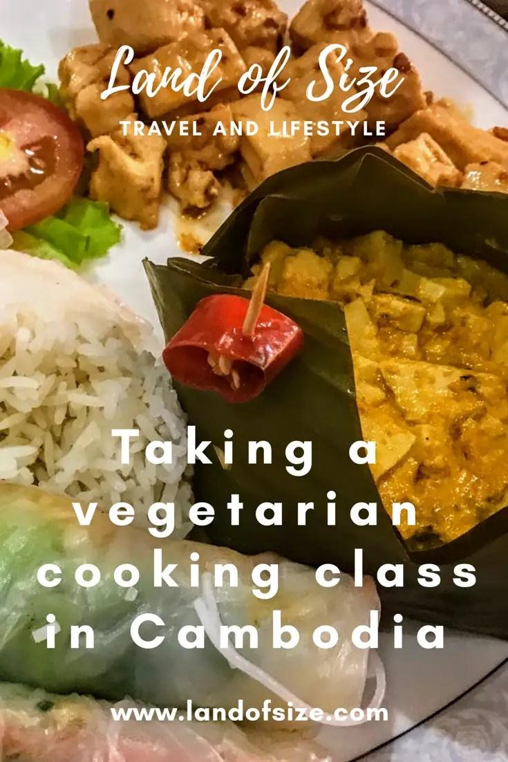 Taking a vegetarian cooking class in Battambang in Cambodia