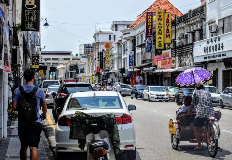 Walking around George Town, Penang, Malaysia