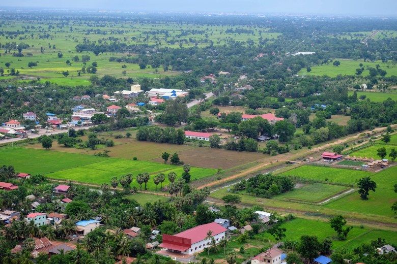 View from Phnom Kdong, Battambang, Cambodia