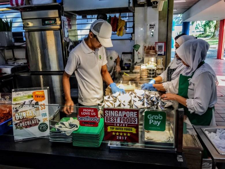 Putu piring stall, Haig Road, Singapore