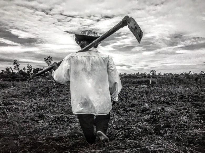 Farmer in rural Cambodia