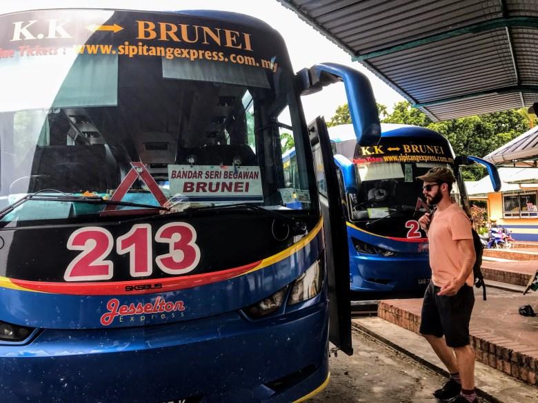 Sipitang bus to Brunei, Borneo