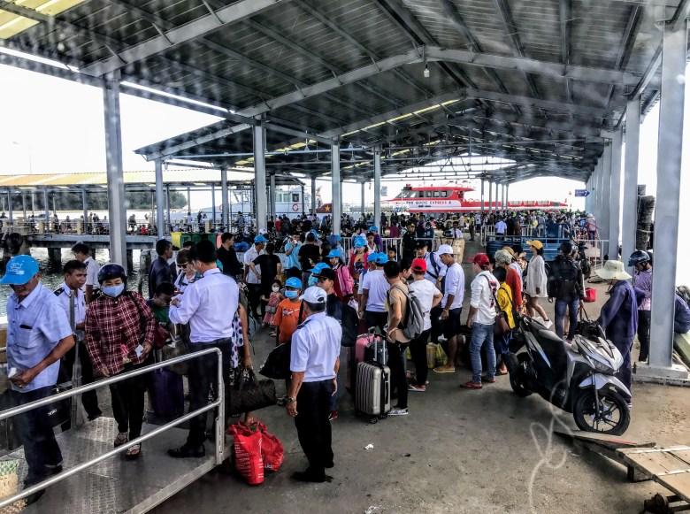 Ferry port at Phu Quoc, Vietnam