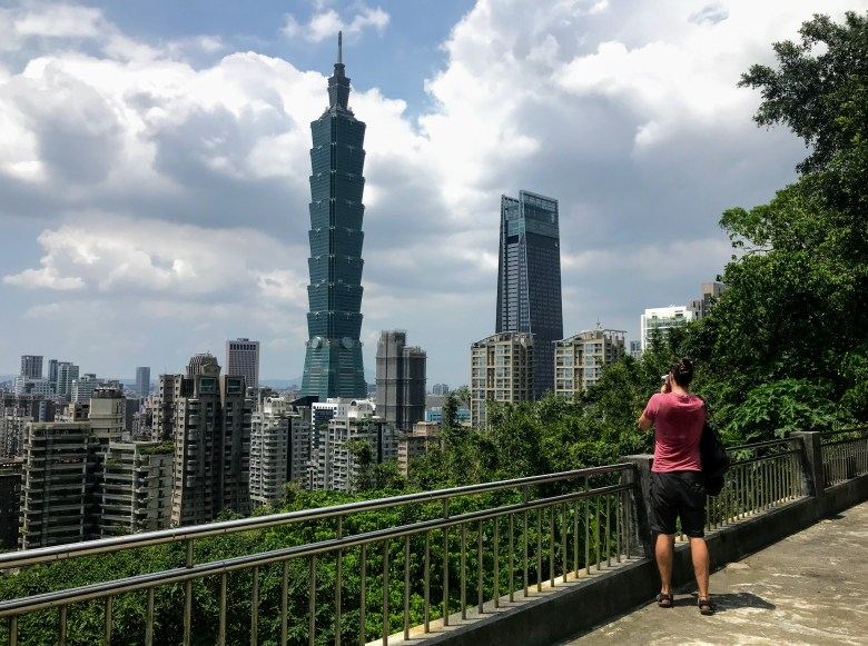 Taipei 101 from the Xiangshan Trail, Taipei, Taiwan