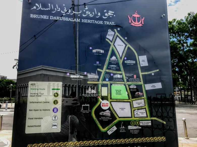 Brunei Heritage Trail map, Brunei