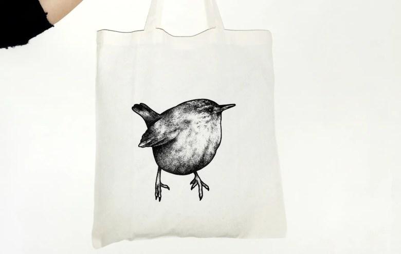 Eco bird tote bag, GigiWeston